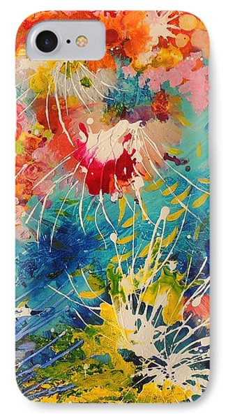 IPhone Case featuring the painting Coral Madness by Lyn Olsen