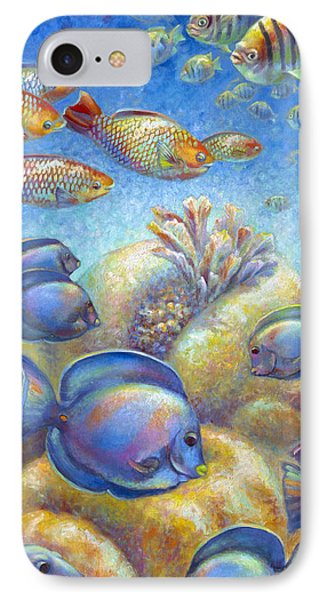 IPhone Case featuring the painting Coral Reef Life II by Nancy Tilles