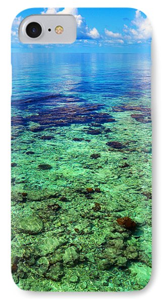 Coral Reef Near The Island At Peaceful Day. Maldives IPhone Case by Jenny Rainbow