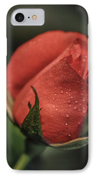 IPhone Case featuring the photograph Coral Rosebud by Debbie Karnes