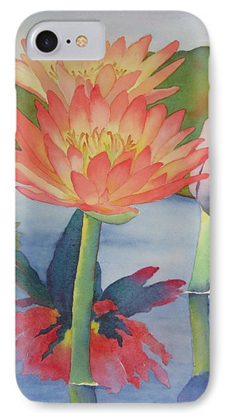 Coral Waterlilies IPhone Case by Judy Mercer