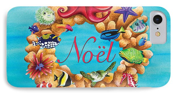 Coral Wreath Noel IPhone Case