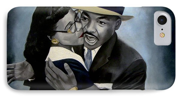 Coretta And Martin IPhone Case by Chelle Brantley