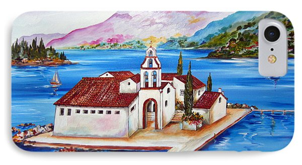 Corfu' Convent Of The Virgin Mary On Vlachema IPhone Case