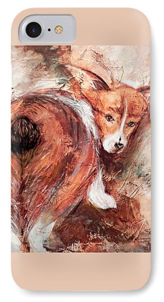 Corgi Butt IPhone Case by Patricia Lintner