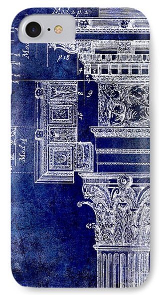 Corinthian Capitol Blue IPhone Case by Jon Neidert