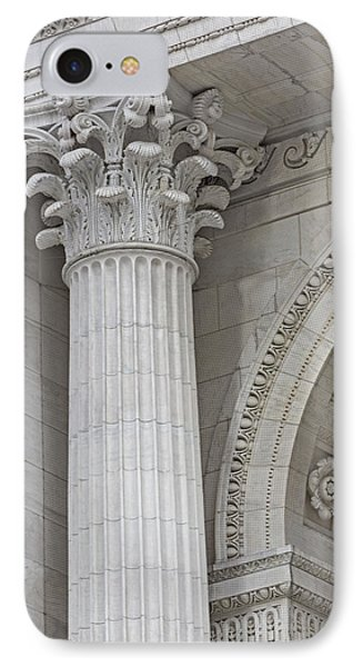 Corinthian Column Detail IPhone Case by Susan Candelario