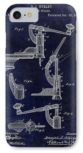 1887 Corkscrew Patent Drawing IPhone Case