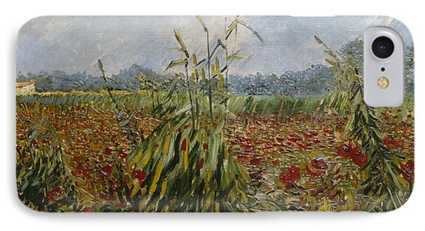 Corn Fields And Poppies, 1888 IPhone Case