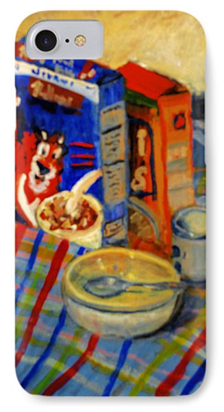 IPhone Case featuring the painting Corn Flakes by Michael Daniels