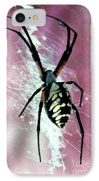 Corn Spider Argiope Auratia Phone Case by Michael Hoard