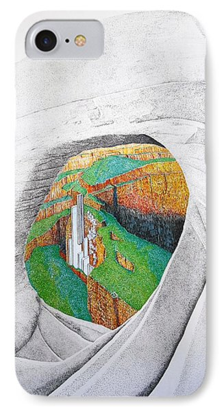 IPhone Case featuring the painting Cornered Stones by A  Robert Malcom