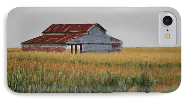 IPhone Case featuring the painting Cornfield Barn by Jimmie Bartlett