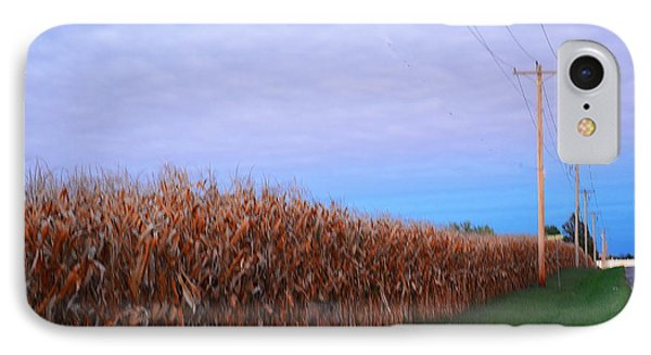 Cornfield In Autumn Phone Case by Luther Fine Art