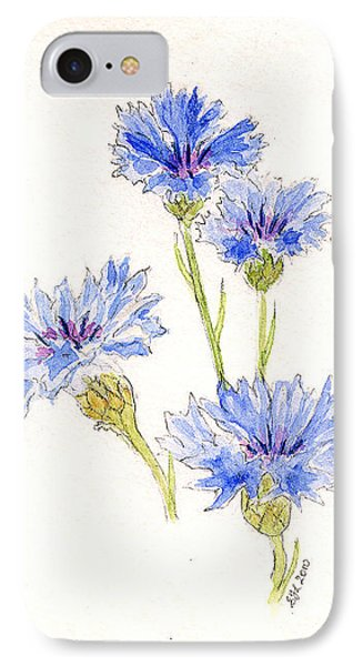 IPhone Case featuring the painting Cornflowers by Stephanie Grant