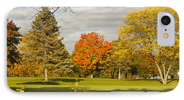 Corning Fall Foliage 5 IPhone Case by Tom Doud