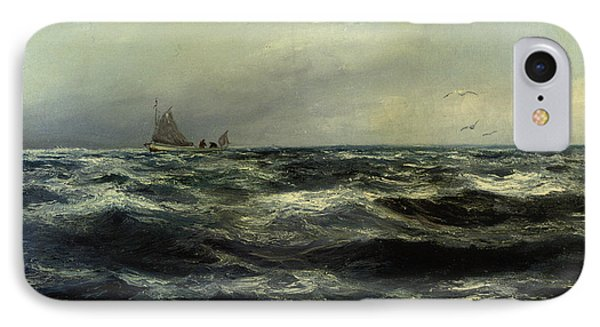 Cornish Sea And Working Boat IPhone Case