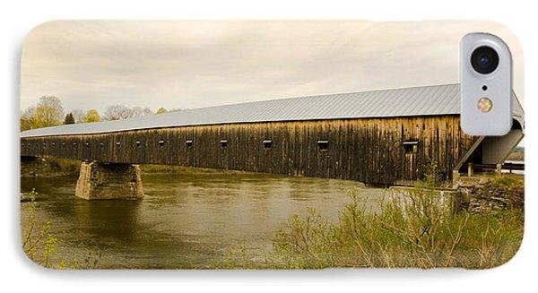 Cornish - Windsor Covered Bridge IPhone Case by Betty  Pauwels