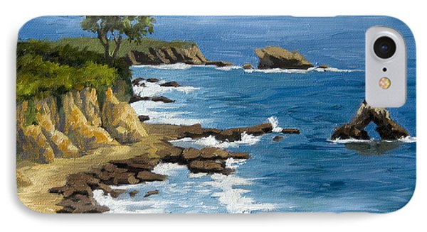 Corona Del Mar California IPhone Case by Alice Leggett