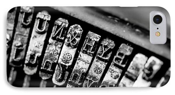 Corona Four Typewriter Detail IPhone Case by Jon Woodhams