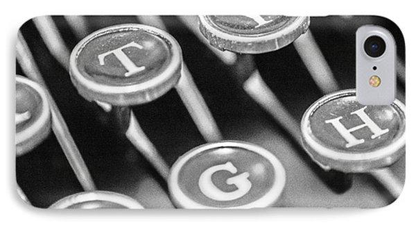 Corona Zephyr Typewriter Keys IPhone Case by Jon Woodhams