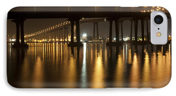 Coronado Bridge At Night IPhone Case