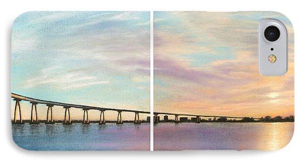 Coronado Bridge Sunset Diptych IPhone Case