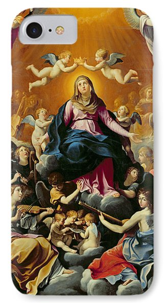 Coronation Of The Virgin Oil On Canvas IPhone Case by Guido Reni