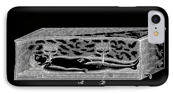Corpse In Coffin Patent IPhone Case by Dan Sproul