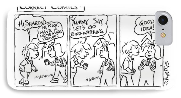 Correct Comics* *drawn By A Vegetarian IPhone Case by Sidney Harris