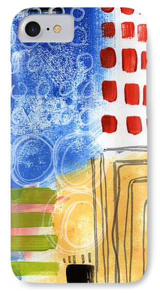 Corridor- Colorful Contemporary Abstract Painting Phone Case by Linda Woods