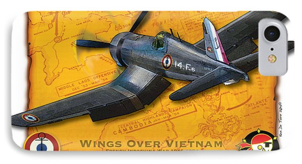 IPhone Case featuring the photograph Corsair  Over Indochina by Kenneth De Tore