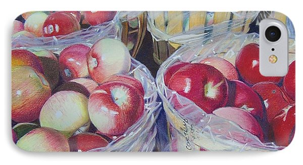 IPhone Case featuring the mixed media Cortland Apples by Constance Drescher