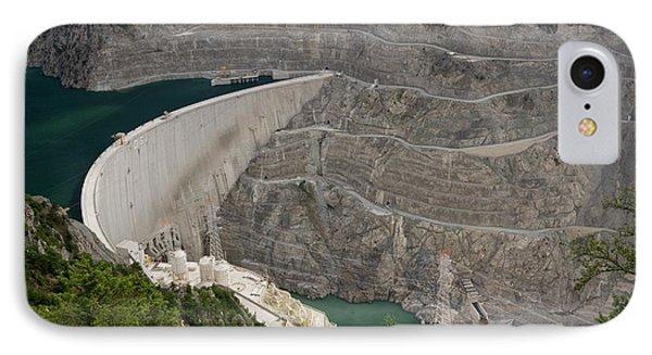 Coruh River Dam Construction IPhone Case