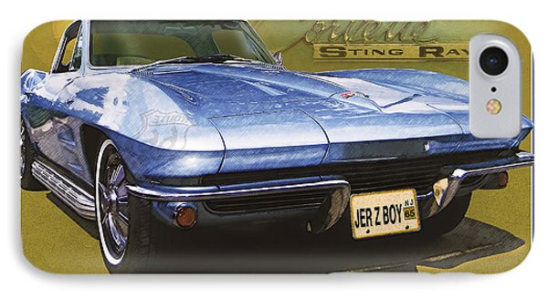Corvette 1965 IPhone Case by Kenneth De Tore