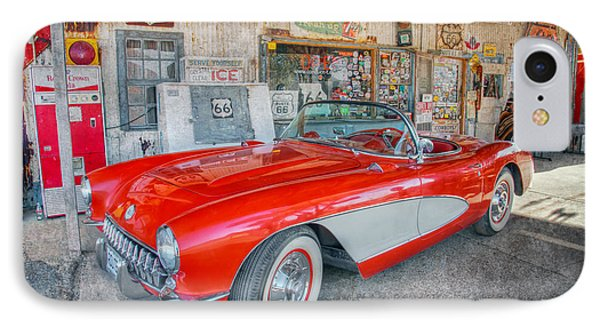 Corvette At Hackberry General Store IPhone Case by Marianne Jensen
