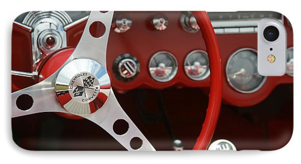 Corvette Classic Red IPhone Case by Sharon Mau