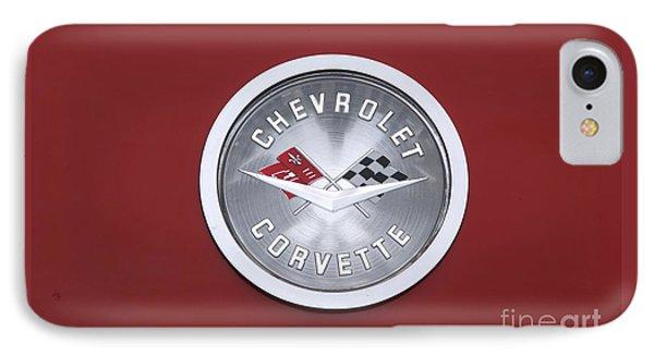 Corvette Emblem Phone Case by Neil Zimmerman