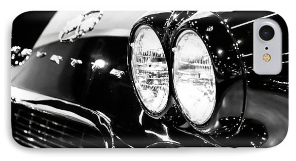 Corvette Picture - Black And White C1 First Generation Phone Case by Paul Velgos
