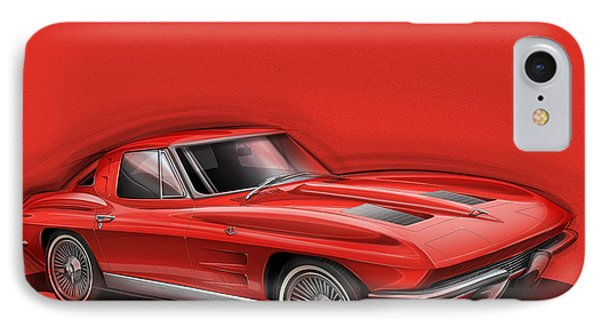 Corvette Sting Ray 1963 Red IPhone Case