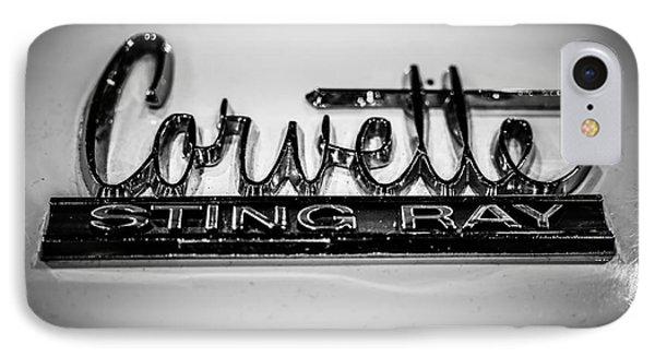 Corvette Sting Ray Emblem IPhone Case by Paul Velgos