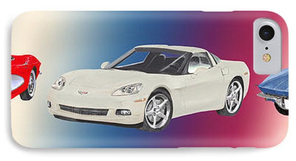 Corvettes In Red White And True Blue IPhone Case by Jack Pumphrey