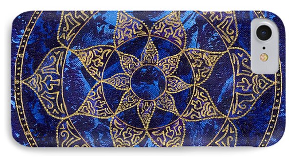 Cosmic Blue Lotus Phone Case by Charlotte Backman