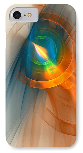 IPhone Case featuring the digital art Cosmic Candle by Victoria Harrington