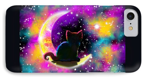 Cosmic Cat IPhone Case by Nick Gustafson