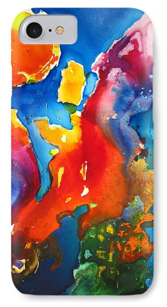 Cosmic Fire Abstract  IPhone Case by Carlin Blahnik