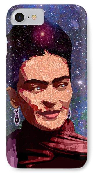 Cosmic Frida IPhone Case by Douglas Simonson