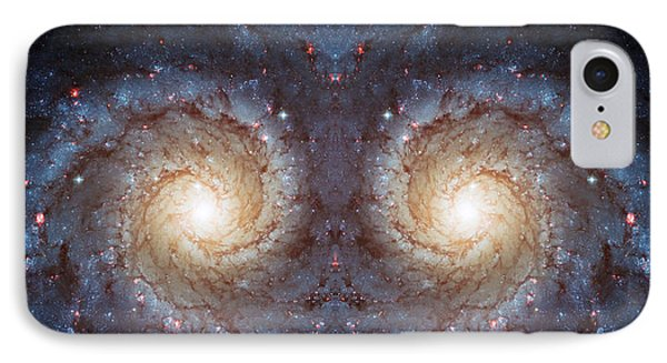 Cosmic Galaxy Reflection Phone Case by Jennifer Rondinelli Reilly - Fine Art Photography