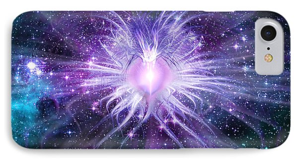 Cosmic Heart Of The Universe IPhone Case by Shawn Dall