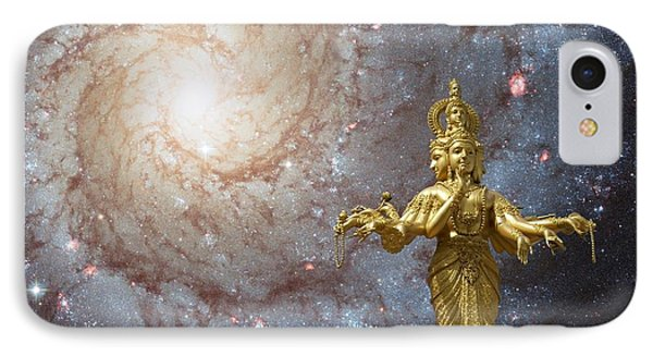 Cosmic Hindu Divinity IPhone Case by Gregory Smith